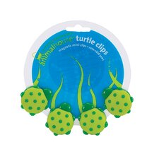 Animal House Turtle Magnetic Mini Clip (Set of 4)