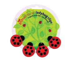 <strong>Boston Warehouse Trading Corp</strong> Animal House Ladybug Magnetic Mini Clip (Set of 4)