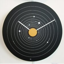 "15"" Solar System Exposé Modern Wall Clock"