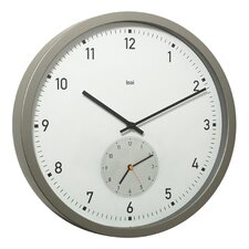 "12.5"" Here and There Twin-Dial Modern Wall Clock"