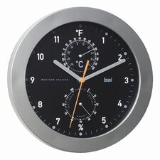 "<strong>Bai Design</strong> 9.75"" Designer Weather Station Wall Clock"