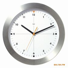 Brushed Aluminum Wall Clock Formula One in White