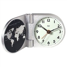 <strong>Bai Design</strong> World Trotter Modern Travel Alarm Clock in Landmark White