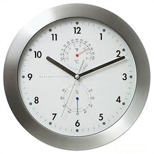 "<strong>Bai Design</strong> 11"" Weather Master Weather Station Modern Wall Clock"