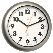 Aquamaster Weatherproof Wall Clock in Satin Silver