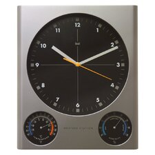 Tank Weather Station Wall Clock