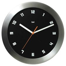 Milan Brushed Aluminum Wall Clock