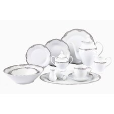 <strong>Lorren Home Trends</strong> Elizabeth 57 Piece Dinnerware Set