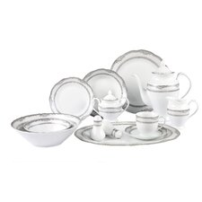 <strong>Lorren Home Trends</strong> Victoria 57 Piece Dinnerware Set