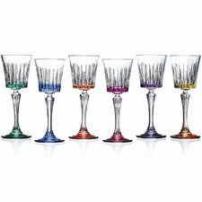 <strong>Lorren Home Trends</strong> Timeless RCR Crystal Water Goblets (Set of 6)