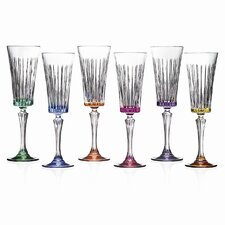 Timeless RCR Crystal Flutes (Set of 6)