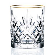 <strong>Lorren Home Trends</strong> Siena Crystal Double Beverage Glass (Set of 4)