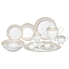 Giada 57 Piece Porcelain Dinnerware Set