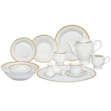 <strong>Lorren Home Trends</strong> Ricamo 57 Piece Porcelain Dinnerware Set