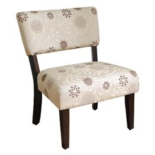 Large Floral Gigi Fabric Slipper Chair