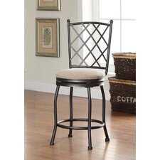 "Tristan 24"" Swivel Barstool with Cushion"