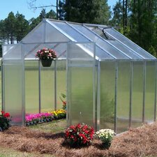 "Monticello 7' 6"" H x 8.0' W x 16.0' D Quick Assembly Polycarbonate 8 mm Greenhouse"