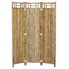 "63"" x 48"" Natual Bamboo 3 Panel Room Divider"