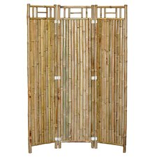 "63"" x 48"" Natural Bamboo 3 Panel Room Divider"