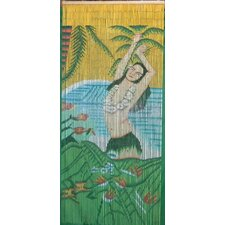 Hula Girl with Lei Curtain Single Panel