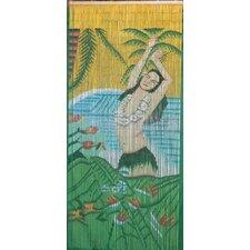Hula Girl with Lei Curtain Single Panel
