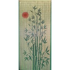 Sun Bamboo Tree Scene Curtain Single Panel