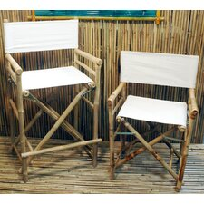 High Bamboo Director Chair (Set of 2)