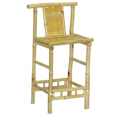 "Natural Bamboo 28"" Barstool (Set of 2)"