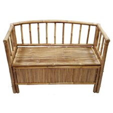 <strong>Bamboo54</strong> Natural Bamboo Storage Bench