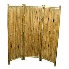 "63"" x 60"" Natual Bamboo 3 Panel Room Divider"