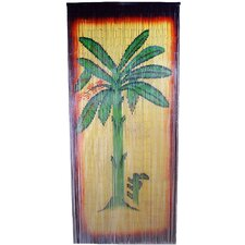 Natural Bamboo Banana Tree Scene Curtain Single Panel