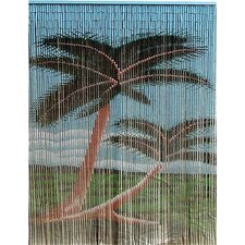Natural Bamboo Double Palm Tree Curtain Single Panel