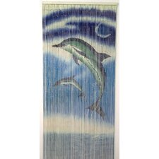 Natural Bamboo Dolphins Design Curtain Panel