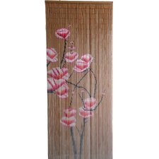 Natrual Bamboo Small Flowers Curtain Single Panel