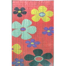 Natural Bamboo Kids Flower Curtain Single Panel