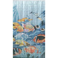 Natural Bamboo Tropical Fishes Curtain Single Panel
