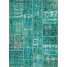Patchwork Light Blue Rug