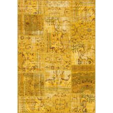 Patchwork Yellow Rug
