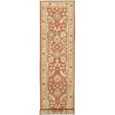 Oushak Rust All Over Pattern Rug