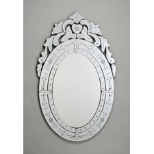 Radiance Oval Traditional Cut Glass and Etched Mirror