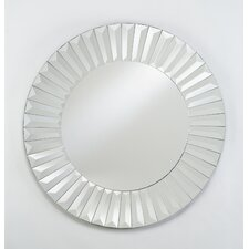 "Radiance 24"" Round Cut Glass Wall Mirror"