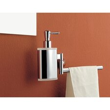 Soap Dispenser with Towel Rail