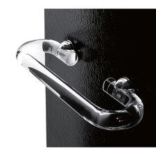 Clear Towel Bar with Chrome Mounting