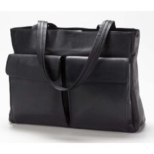 Vachetta Two Pocket Tote in Black