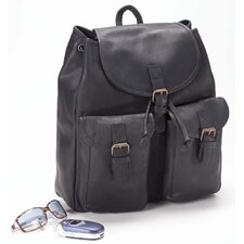 <strong>Clava Leather</strong> Vachetta Drawstring Backpack