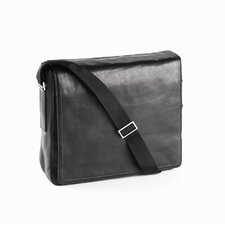 Tuscan Square Messenger Bag in Black