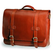 Bridle Executive Porthole Leather Laptop Briefcase