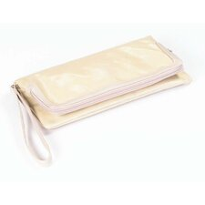 Wellie Foldover Clutch in Tan