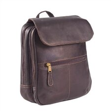 <strong>Clava Leather</strong> Colored Vachetta Flap Organizer Backpack