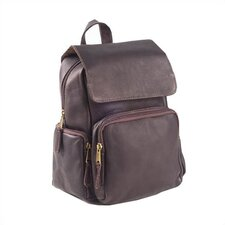 Vachetta Mid Size Multi Pocket Backpack in Café
